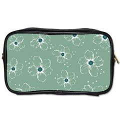 Floral Flower Rose Sunflower Grey Toiletries Bags