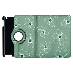 Floral Flower Rose Sunflower Grey Apple Ipad 3/4 Flip 360 Case