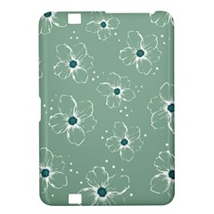 Floral Flower Rose Sunflower Grey Kindle Fire HD 8.9