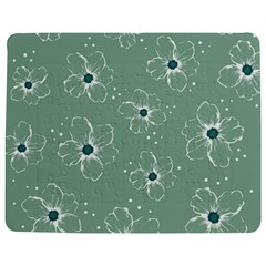 Floral Flower Rose Sunflower Grey Jigsaw Puzzle Photo Stand (Rectangular)