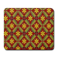 Abstract Yellow Red Frame Flower Floral Large Mousepads