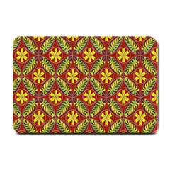 Abstract Yellow Red Frame Flower Floral Small Doormat