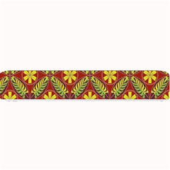 Abstract Yellow Red Frame Flower Floral Small Bar Mats