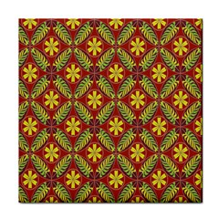 Abstract Yellow Red Frame Flower Floral Face Towel