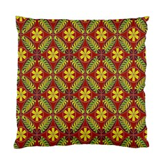 Abstract Yellow Red Frame Flower Floral Standard Cushion Case (Two Sides)