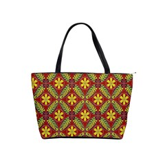 Abstract Yellow Red Frame Flower Floral Shoulder Handbags