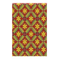 Abstract Yellow Red Frame Flower Floral Shower Curtain 48  x 72  (Small)