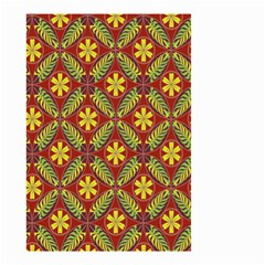 Abstract Yellow Red Frame Flower Floral Small Garden Flag (Two Sides)