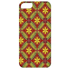 Abstract Yellow Red Frame Flower Floral Apple iPhone 5 Classic Hardshell Case
