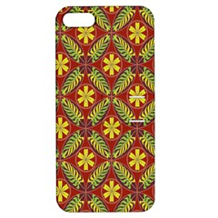 Abstract Yellow Red Frame Flower Floral Apple iPhone 5 Hardshell Case with Stand