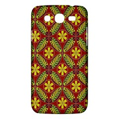 Abstract Yellow Red Frame Flower Floral Samsung Galaxy Mega 5.8 I9152 Hardshell Case