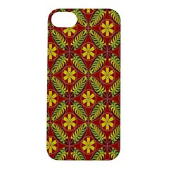 Abstract Yellow Red Frame Flower Floral Apple iPhone 5S/ SE Hardshell Case