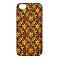 Abstract Yellow Red Frame Flower Floral Apple iPhone 5C Hardshell Case