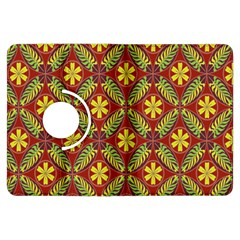 Abstract Yellow Red Frame Flower Floral Kindle Fire HDX Flip 360 Case