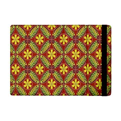 Abstract Yellow Red Frame Flower Floral iPad Mini 2 Flip Cases