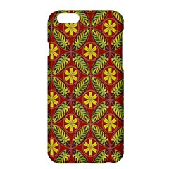Abstract Yellow Red Frame Flower Floral Apple Iphone 6 Plus/6s Plus Hardshell Case