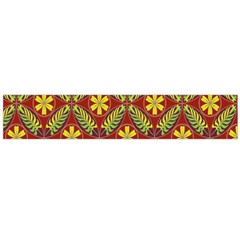 Abstract Yellow Red Frame Flower Floral Flano Scarf (Large)
