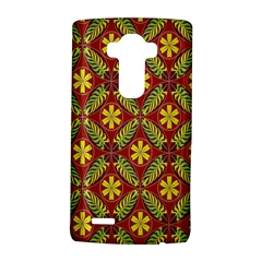 Abstract Yellow Red Frame Flower Floral LG G4 Hardshell Case