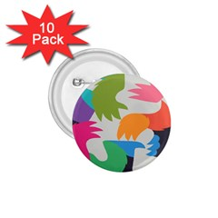 Hand Rainbow Blue Green Pink Purple Orange Monster 1.75  Buttons (10 pack)