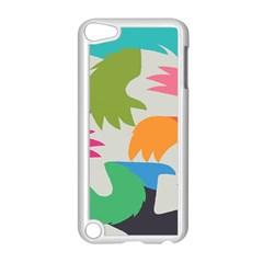Hand Rainbow Blue Green Pink Purple Orange Monster Apple iPod Touch 5 Case (White)