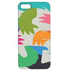 Hand Rainbow Blue Green Pink Purple Orange Monster Apple Iphone 5 Hardshell Case With Stand