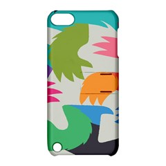 Hand Rainbow Blue Green Pink Purple Orange Monster Apple iPod Touch 5 Hardshell Case with Stand