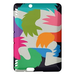 Hand Rainbow Blue Green Pink Purple Orange Monster Kindle Fire HDX Hardshell Case