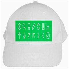 Icon Sign Green White White Cap