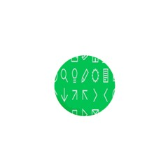Icon Sign Green White 1  Mini Magnets