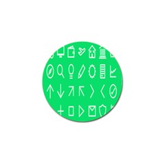 Icon Sign Green White Golf Ball Marker (10 pack)