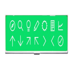 Icon Sign Green White Business Card Holders