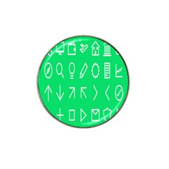 Icon Sign Green White Hat Clip Ball Marker