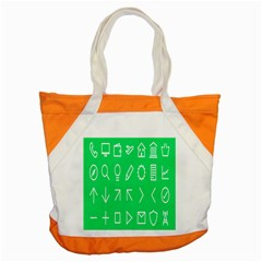 Icon Sign Green White Accent Tote Bag