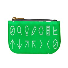 Icon Sign Green White Mini Coin Purses