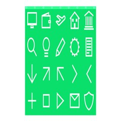 Icon Sign Green White Shower Curtain 48  x 72  (Small)