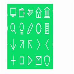 Icon Sign Green White Large Garden Flag (Two Sides)