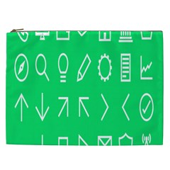 Icon Sign Green White Cosmetic Bag (XXL)