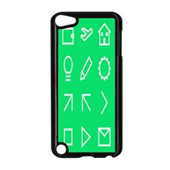 Icon Sign Green White Apple Ipod Touch 5 Case (black)