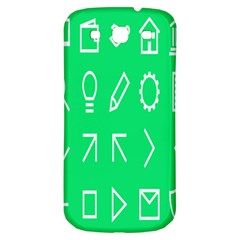 Icon Sign Green White Samsung Galaxy S3 S III Classic Hardshell Back Case