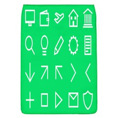 Icon Sign Green White Flap Covers (L)