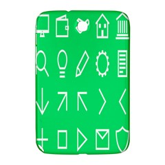 Icon Sign Green White Samsung Galaxy Note 8.0 N5100 Hardshell Case