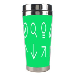 Icon Sign Green White Stainless Steel Travel Tumblers