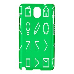 Icon Sign Green White Samsung Galaxy Note 3 N9005 Hardshell Case