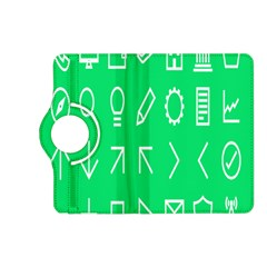 Icon Sign Green White Kindle Fire HD (2013) Flip 360 Case