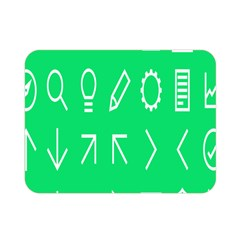 Icon Sign Green White Double Sided Flano Blanket (Mini)