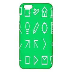 Icon Sign Green White iPhone 6 Plus/6S Plus TPU Case