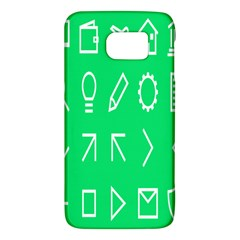 Icon Sign Green White Galaxy S6