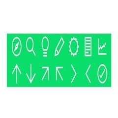 Icon Sign Green White Satin Wrap