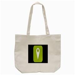 Location Icon Graphic Green White Black Tote Bag (Cream)