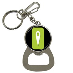 Location Icon Graphic Green White Black Button Necklaces